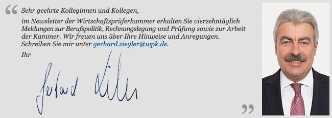 Grußwort des Präsidenten der WPK
